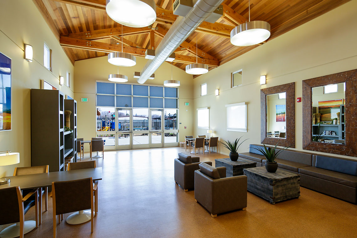 Interior of Archway Commons Affordable Housing Community in Modesto CA