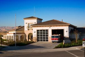 This is a picture of the mountain house fire station.