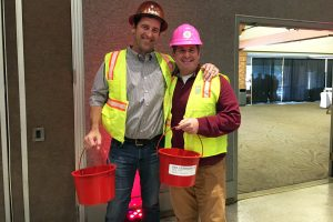 This is an image of Brad Ardis at the Salvation Army Kettle Kick Off. Happy Holiday!