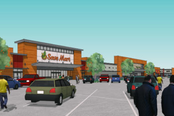 This is a picture of the design concept of Save Mart Supermarkets in Ceres, California. This design concept is by Huff Construction