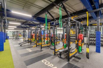 Interior of the SHADELANDS SPORTSMALL WEIGHT ROOM