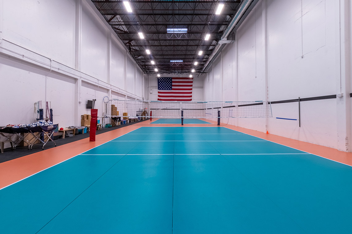 Interior of the SHADELANDS SPORTSMALL Volleyball