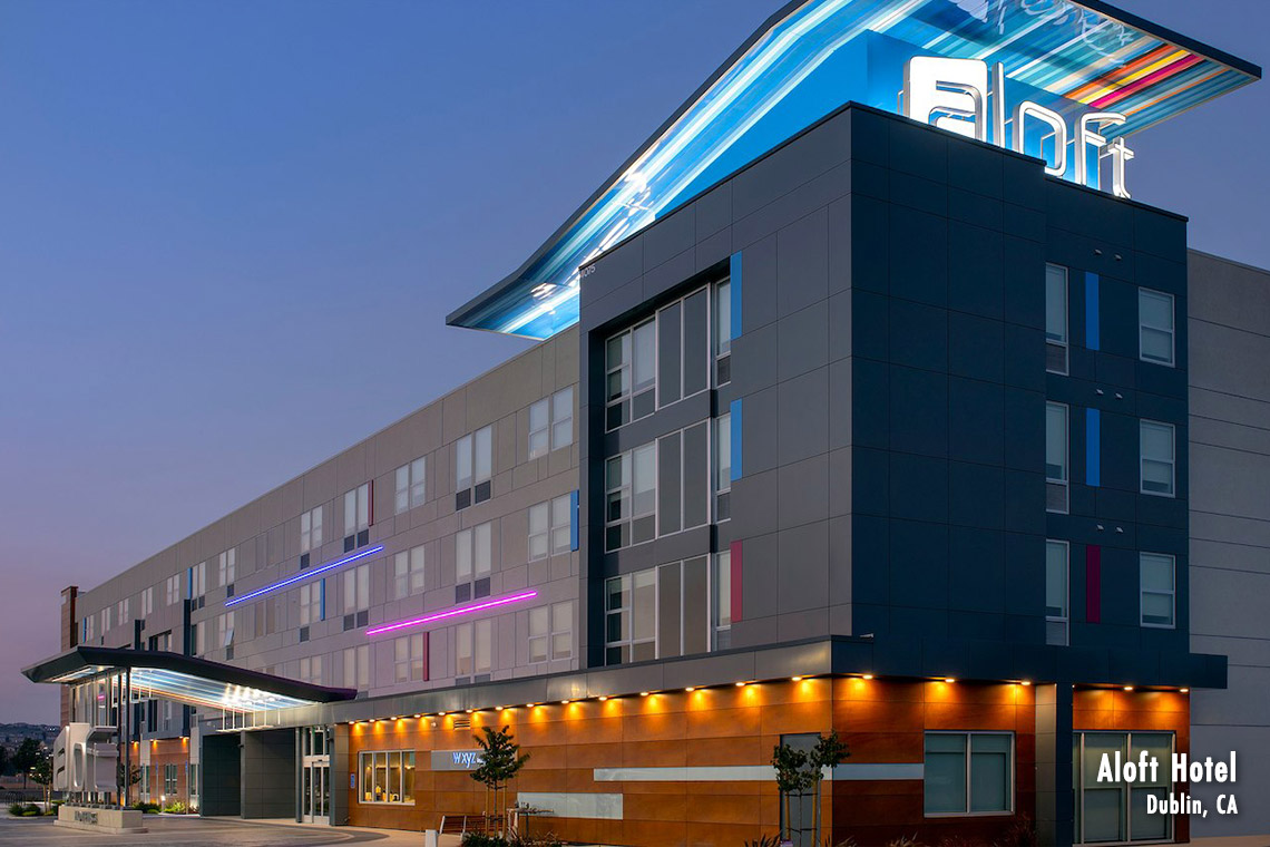 Aloft Hotel built by Huff Construction