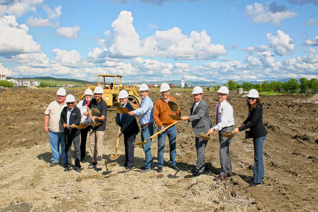 Aloft Hotel Ground Breaking: Huff Employees, Owners, Community Members, and Government Officials