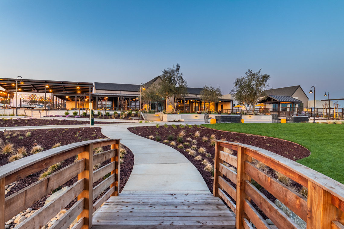 Exterior Photo of The Campus Clubhouse at The Collective Community in Manteca, CA.