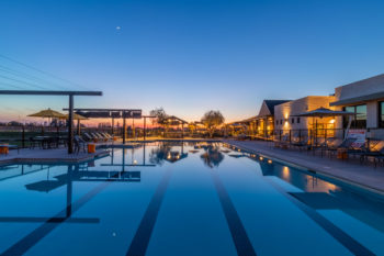 Photo of the pool at The Campus Clubhouse at The Collective Community in Manteca, CA.
