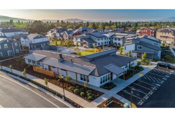 Aerial image of Sunflower Hill at Irby Ranch in Pleasanton, CA