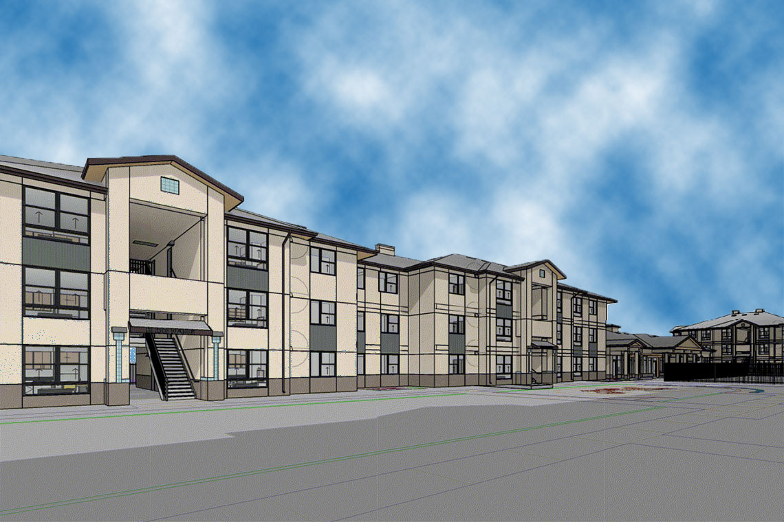 Childs Ave. & B St. Apartments in Merced, CA Rendering