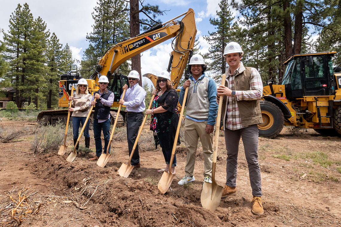 Photo of the groundbreaking ceremony for The Village at Gray's Crossing