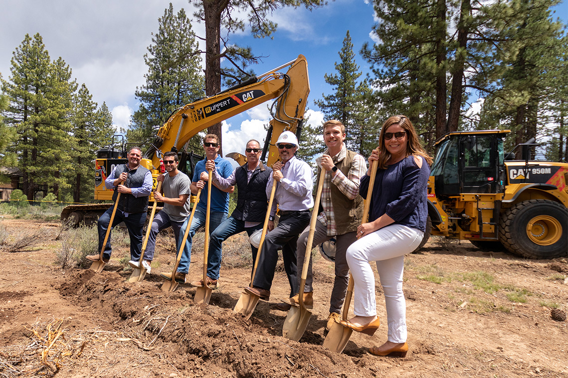 Photo from the groundbreaking ceremony for the Village at Gray's Crossing development in Truckee, CA