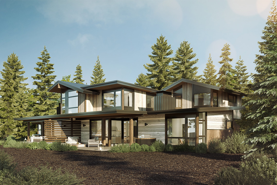 Aspen Model Home for the Village at Gray's Crossing development in Truckee, CA
