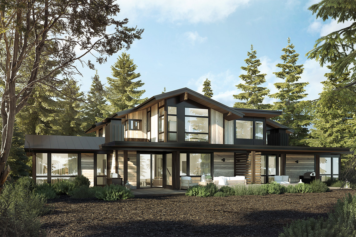 Ponderosa Model Home for the Village at Gray's Crossing development in Truckee, CA