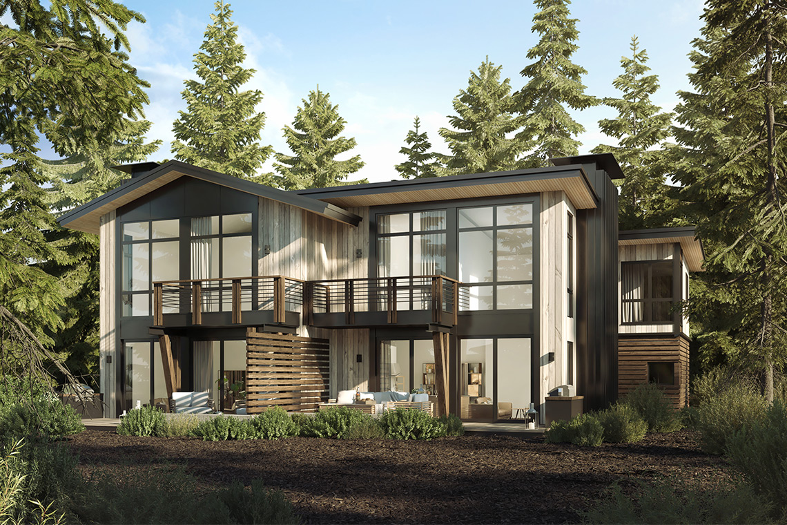 Sage Brush Model Home for the Village at Gray's Crossing development in Truckee, CA