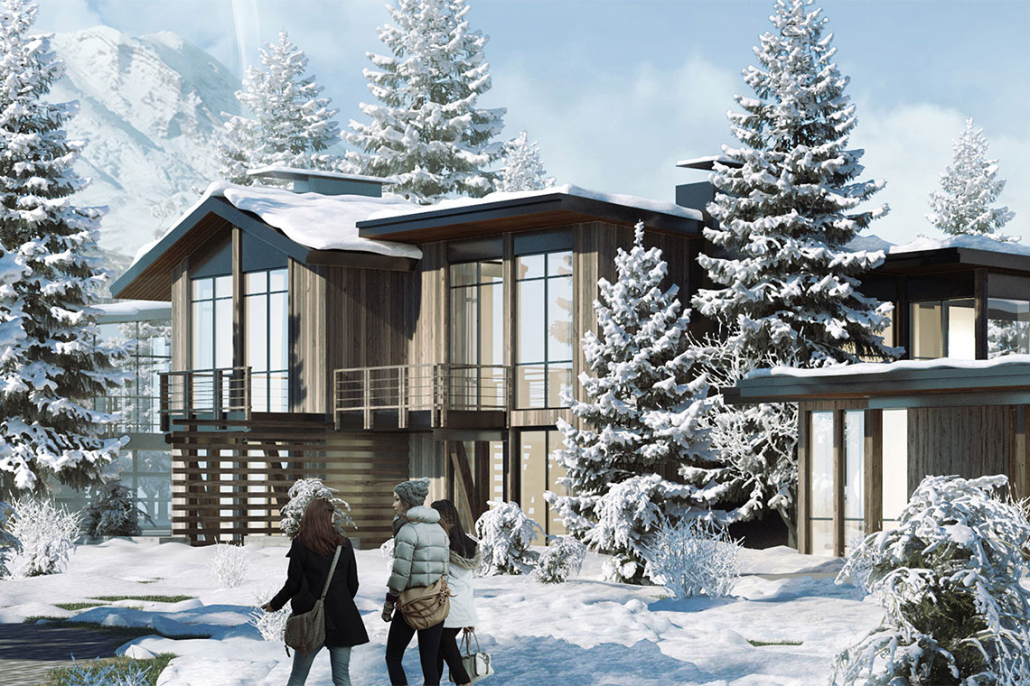 Artist's rendering of a unit at the Village at Gray's Crossing in Truckee, CA